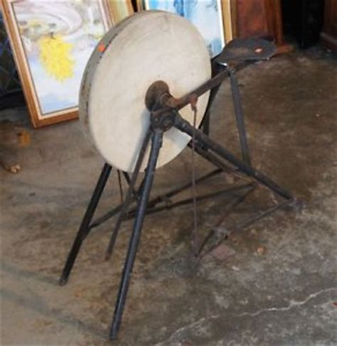 antique wheel sharpening for sale antique pedal wheel w seat sandstone