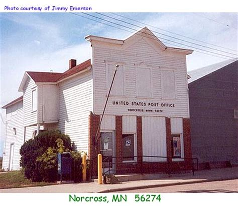Norcross Post Office by Minnesota Post Offices