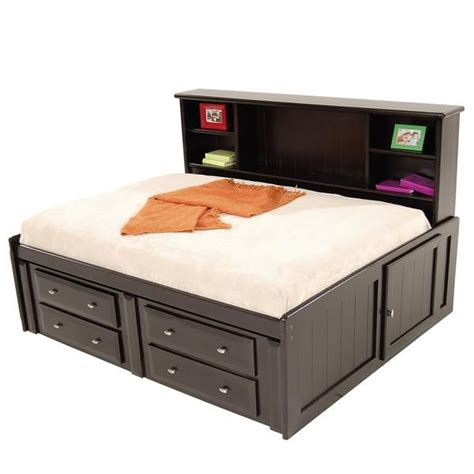 full bed with drawers full size bed plans with drawers woodworking projects