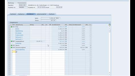 sap va21 tutorial sap verkauf vertrieb 05 vf01 rechnungsausgang faktura