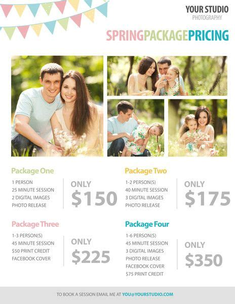 Free Photography Template Spring Package Pricing For Photographers Pretty Presets Lightroom Mini Session Templates For Lightroom