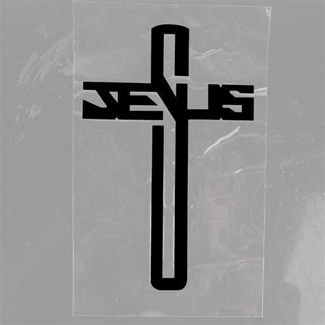Auto Sticker Jesus by Schwarz Auto Sticker Kreuz Jesus Autoaufkleber