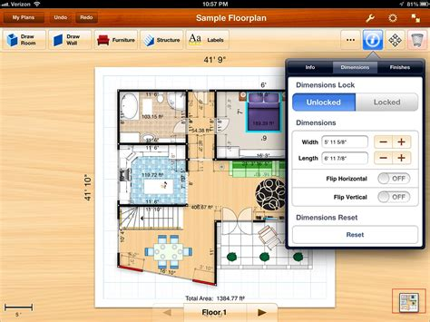 floor plan layout app floorplans for ipad review design beautiful detailed