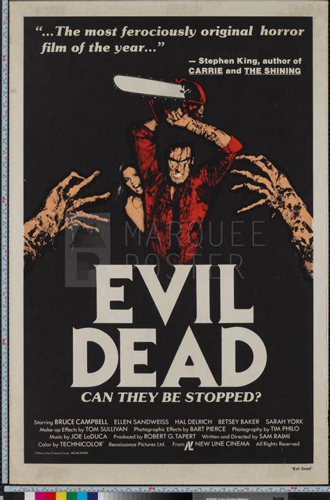 gateway film center evil dead marquee poster evil dead 1981 us 1 sheet