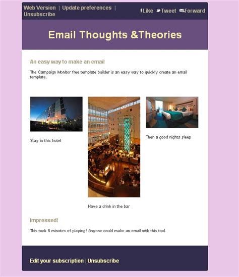 Email Thoughts Theories Caign Monitor Free Email Template Builder Free Email Template Builder