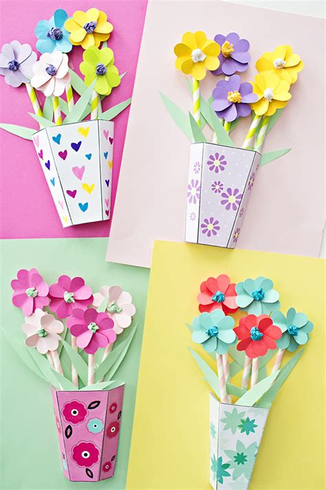 Make A Bouquet Of Flowers With Paper - how to make 3d paper flower bouquets with