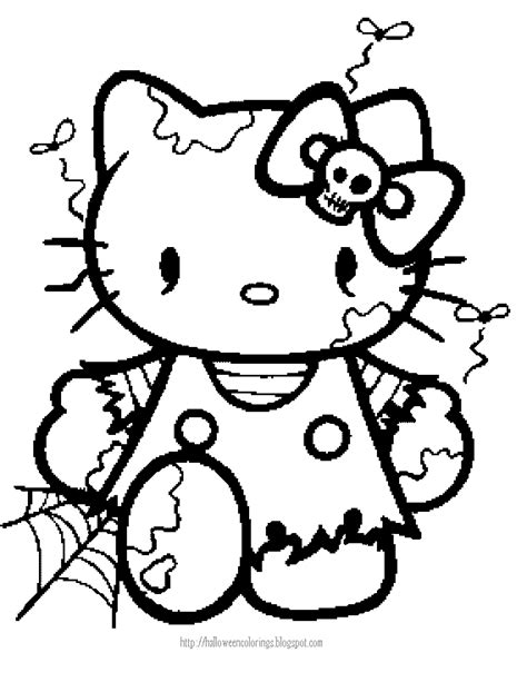 cute zombie coloring pages halloween coloring page of hello kitty as a zombie