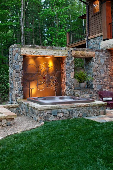 backyard hot tub designs fire pit hot tub or both abode