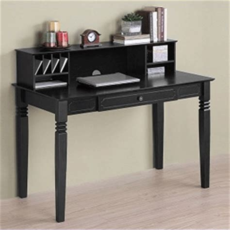 Black Writing Desk With Hutch by Object Moved
