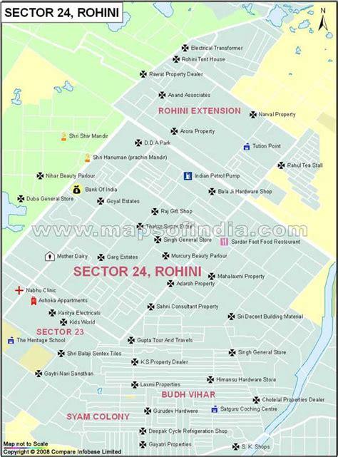 Sector 24 Rohini Map