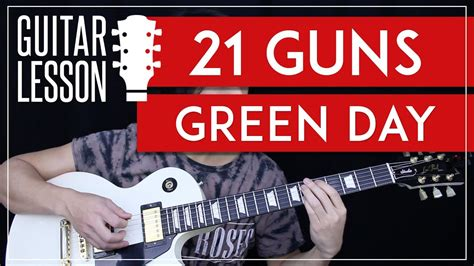 guitar tutorial 21 guns 21 guns guitar tutorial green day guitar lesson tabs