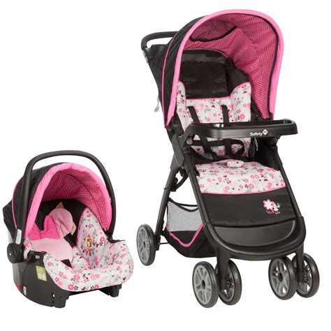 disney minnie mouse car seat and stroller disney baby minnie mouse amble travel system with