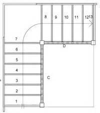 stair plan staircase plans online quarter landing staircases