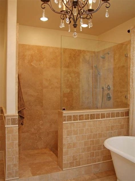 Bathroom Showers Without Doors Walk In Tile Shower Without Door Tiles In Traditional Bathroom Walk In Shower Designs