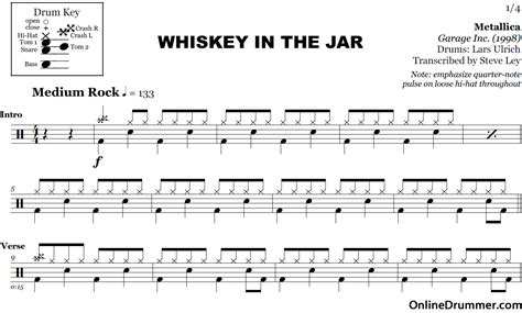 metallica whisky in the jar lyrics harmonica tabs whiskey in the jar 187 music sheets chords