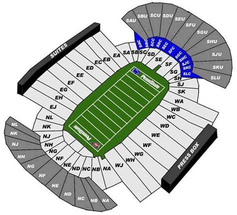 penn state stadium seating penn state nittany lions football beaver