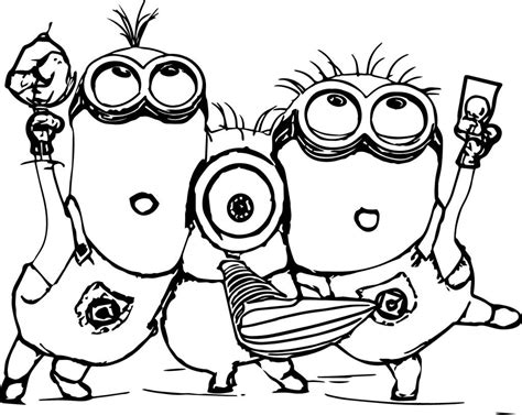 8 cute vire minions coloring pages cute minion