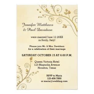 do you invite officiant to wedding reception post wedding invitations announcements zazzle