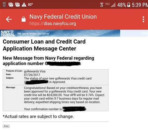 Credit Card Update Template by Navy Federal Credit Union Business Credit Cards Image