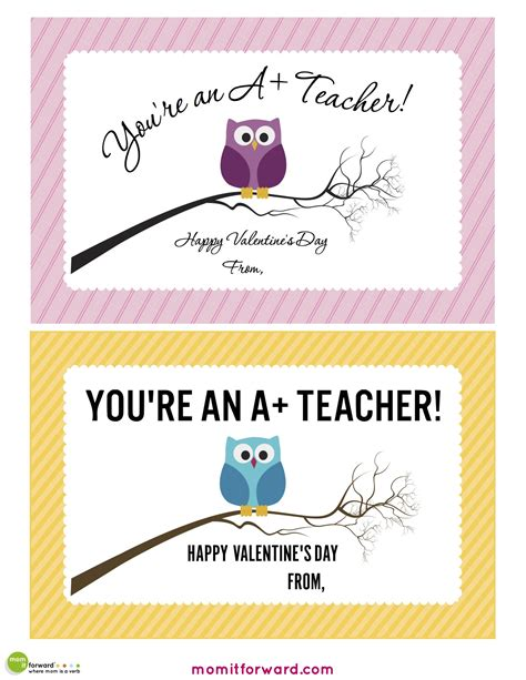 valentines card for teachers messages s day printables notes for and teenagers