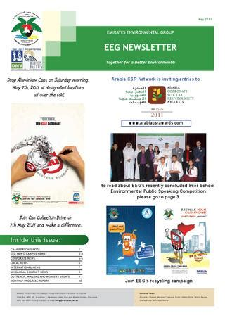 emirates newsletter eeg newsletter may 2011 by emirates environmental group