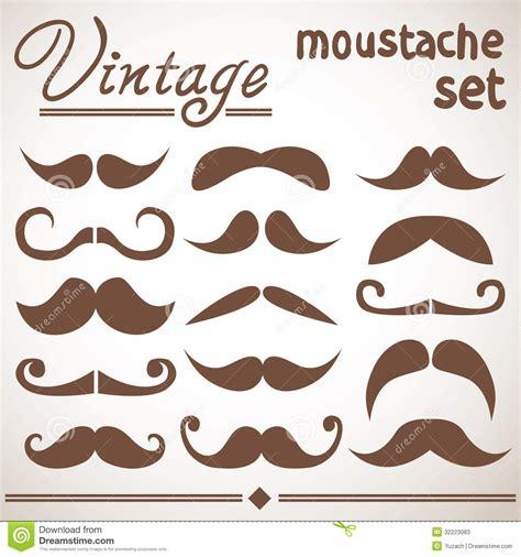 moustache stock images royalty free images vectors vintage moustache collection stock vector image 32223083