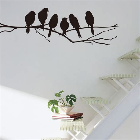 wall decor birds wall stickers decal removable art home mural decor black