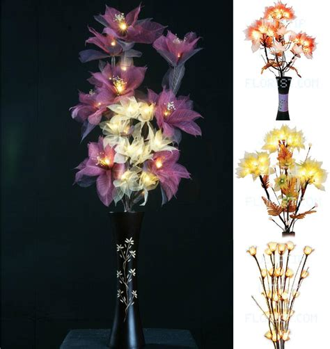 Flowers With Lights In Vase by Flower Bouquet Led Lights Tree Branch Vase
