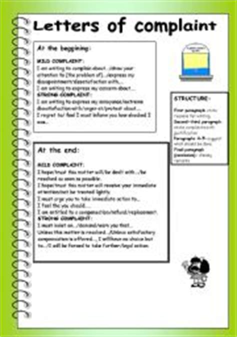Complaint Letter B2 Teaching Worksheets A Letter Of Complaint