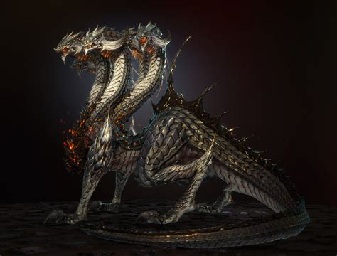 hydra dragon digital art fantasy art final fantasy xiv