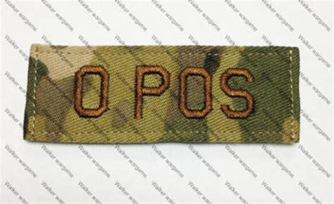 Emerson Blood Type Velcro Patch B Pos international badges insignia b617 us army o pos blood
