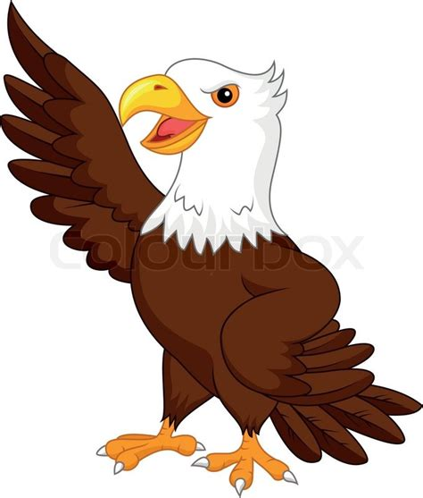 cartoon eagle wallpaper vector illustration of eagle cartoon waving stock vector