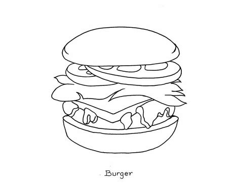 coloring pages with food junk food coloring pages coloring home