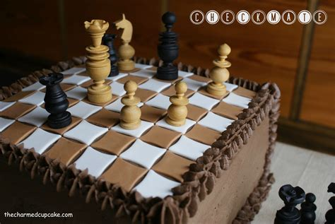 best chess design checkmate the charmed cupcake