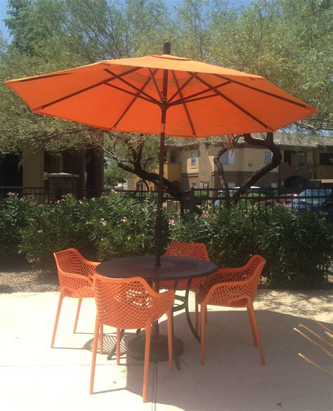 patio set umbrella commercial resin pool furniture client showcase
