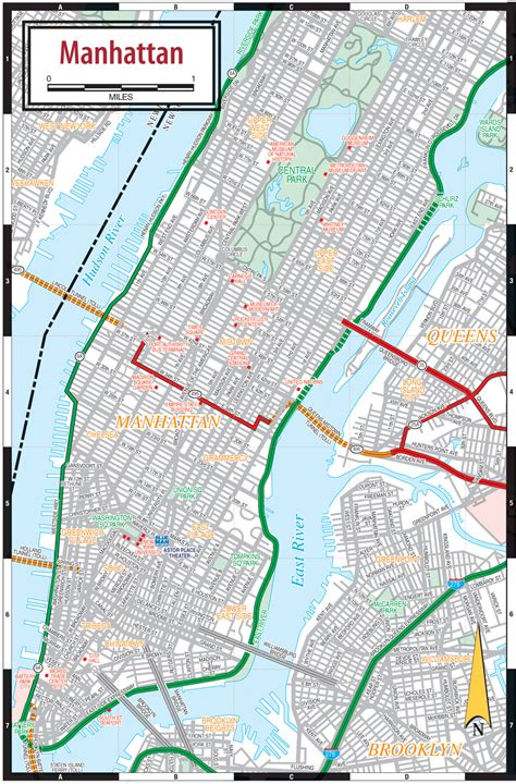map of manhattan ny geography maps manhattan new york city