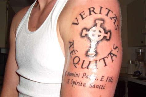 veritas tattoo veritas aequitas justice on left shoulder