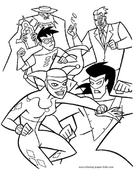 batman enemies coloring pages batman robin and villains coloring page batman color