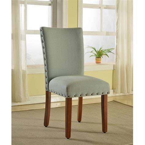 Dining Chair Foam Homepop Sea Foam Nail Parsons Chairs Set Of 2 By Homepop Nail Green And Great Deals