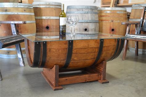 wine barrel table glass top barrel table how to build in 14 unique ways guide patterns