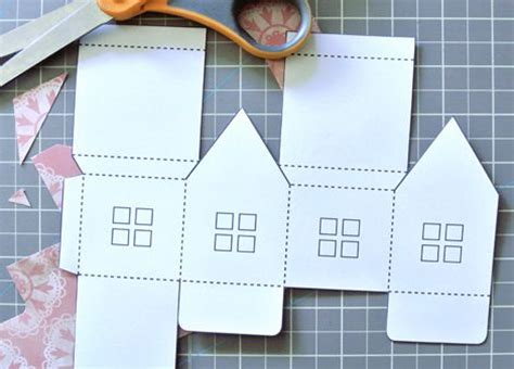 How To Make A Small Paper House - 25 best ideas about house template on paper