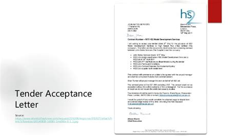 Acceptance Letter Of Tender Quantity Surveyor