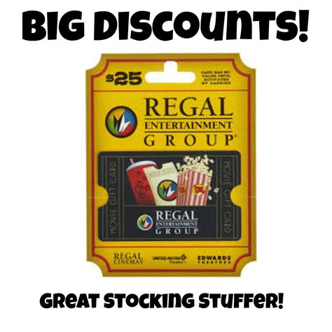 Regal Cinemas Gift Card Online - 25 regal cinemas gift card just 17 13