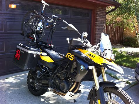 Bicycle Rack For Motorcycle by Real Tyme Bicycle Rack For The Bmw F800 Gsit S All About