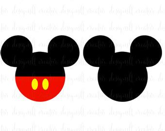 Disney Boy Plain Black mickey mouse clipart black pencil and in color