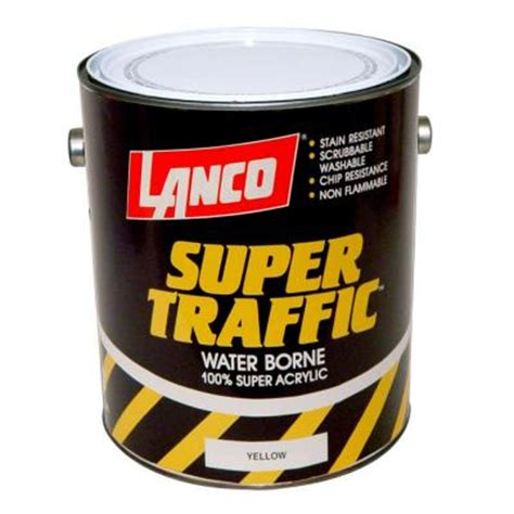 lanco traffic 1 gal yellow paint tp805 4 the home depot