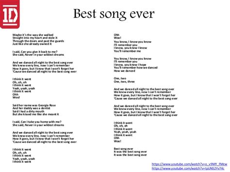 best party lyrics ever best song ever one direction best song ever lyrics
