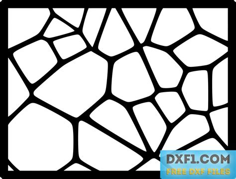 pattern cutter cv voronoi patterns free dxf files free cad software