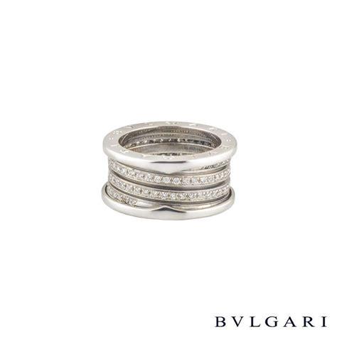 Bvlg White Set bvlgari 18k white gold set b zero1 ring an85055 rich diamonds of bond