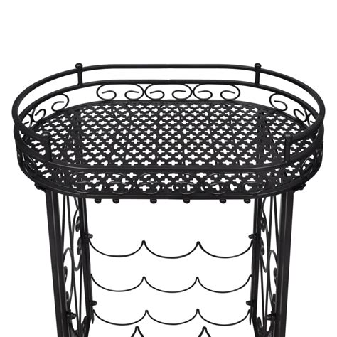 metal wine rack table vidaxl co uk metal wine rack wine table with hooks for 9